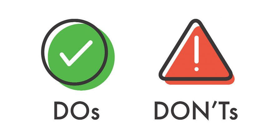 do's and do not
