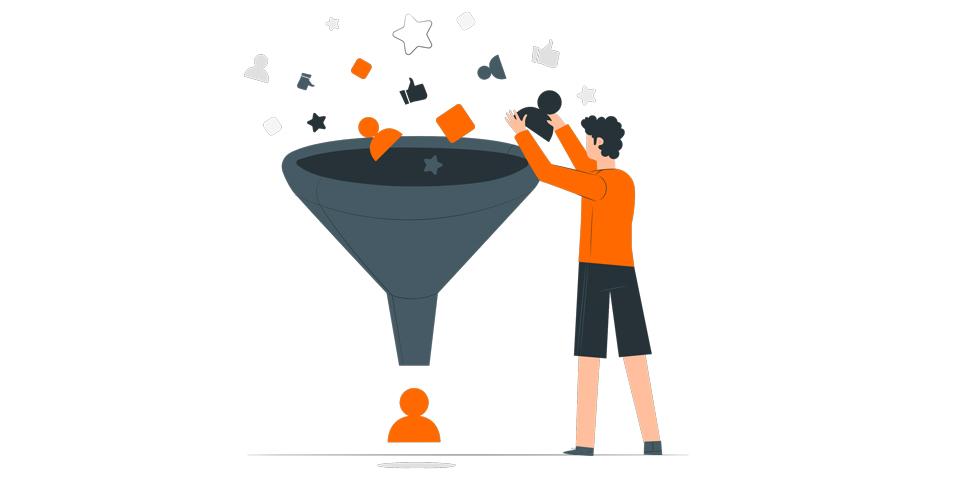 قیف بازاریابی چیست؟ (سفر مشتری خود را در این قیف بچینید!)