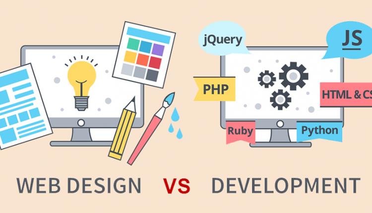 تفاوت توسعه وب و طراحی سایت