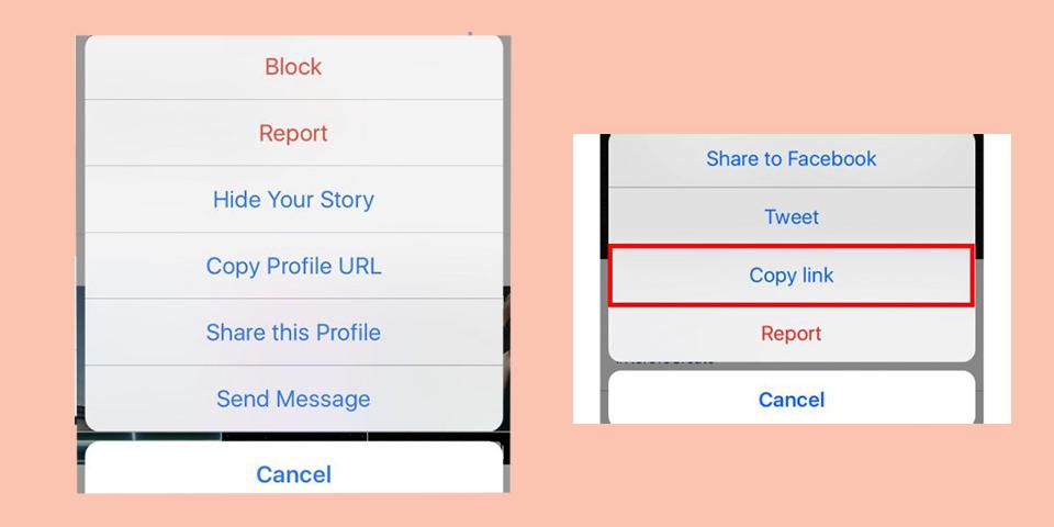 روش ساخت لینک برای اینستاگرام