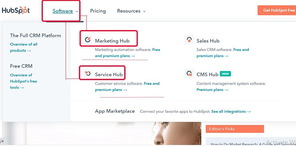 نمونه ناوبری سایت هاب اسپات