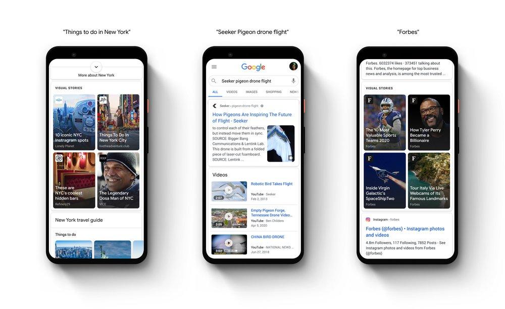 وب استوری گوگل