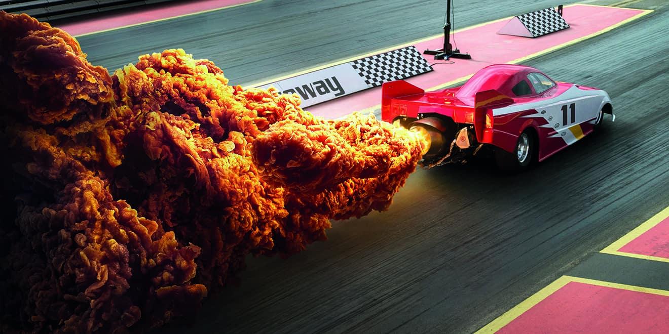 طراحی بیلبورد خلاقانه KFC