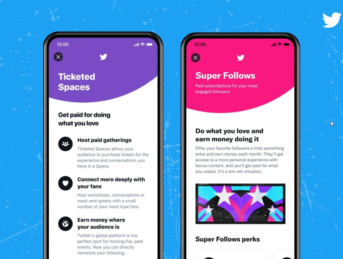 ویژگی های تعاملی Ticketed Spaces و Super Follows در توییتر فعال شد!